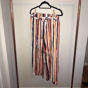 Target Striped Flowy Pants